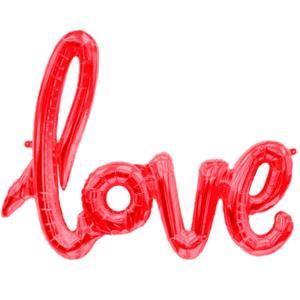 Balão Love Vermelho Foil, 102 cm