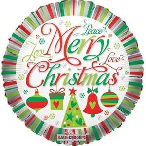 Balão Merry Christmas Joy Peace Foil, 46 cm