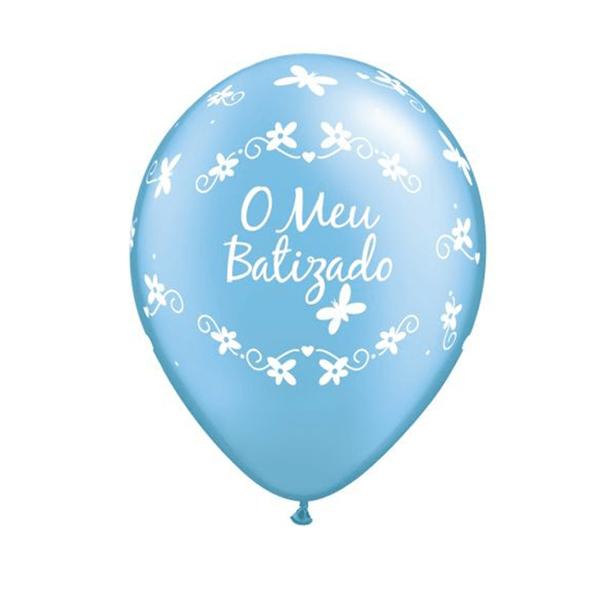 Balão O meu Batizado Azul