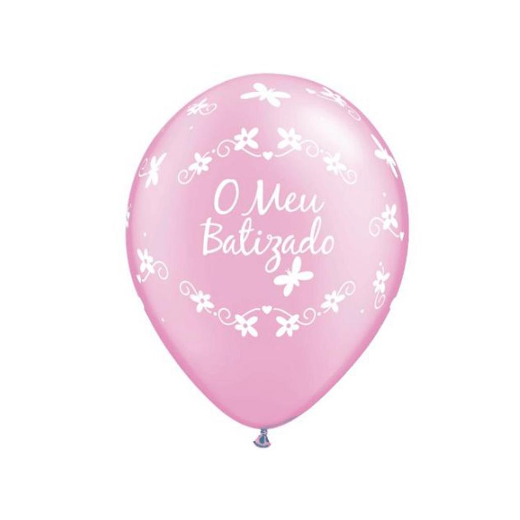 Balão O meu Batizado Rosa