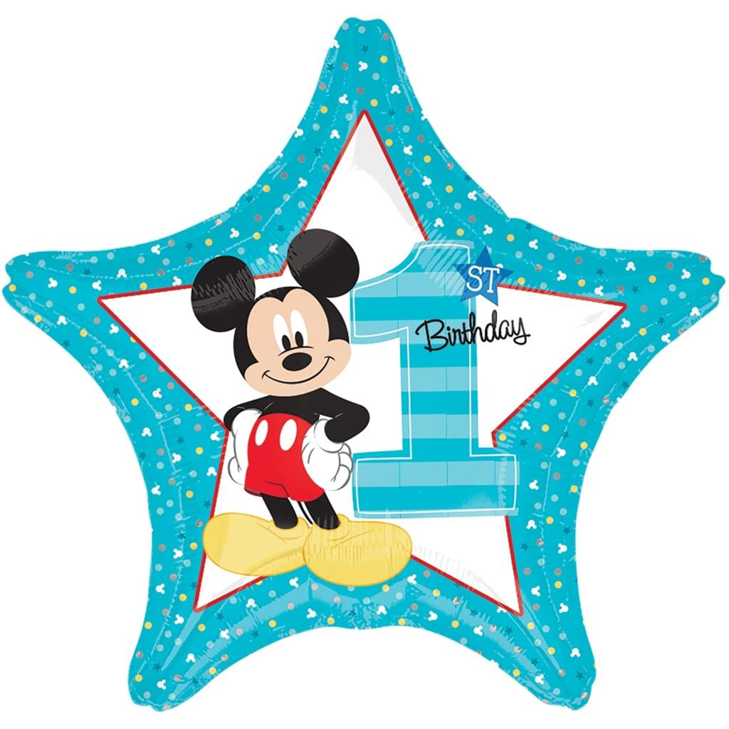 Balão Mickey Bebé 1º Aniversário, 48 cm