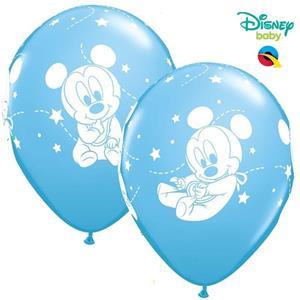 Balão Mickey Bebé,  6 Uind.