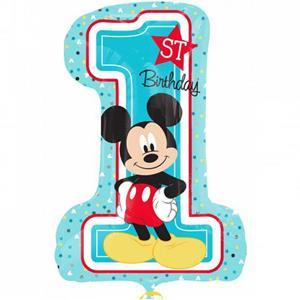 Balão Mickey Mouse 1º Aniversário Foil, 71 cm