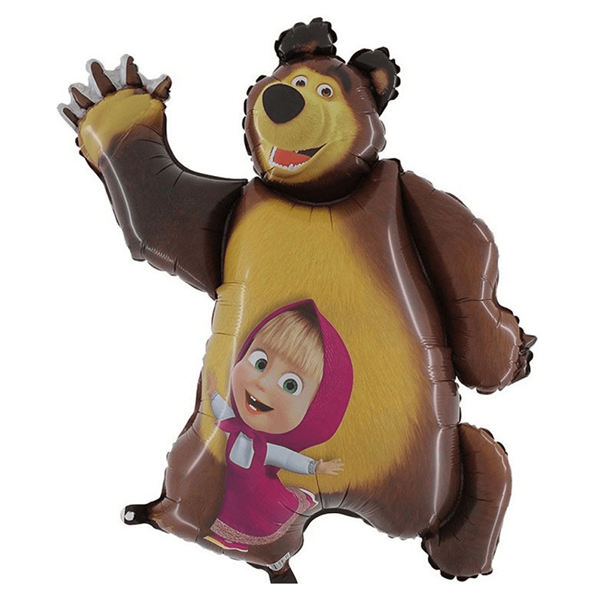 Balão Foil Mini Shape Masha e Urso, 50 Cm