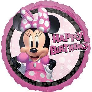 Balão Minnie Forever Happy Birthday Foil, 43 cm