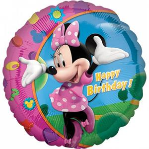 Balão Minnie Happy Birthday Foil, 43 cm
