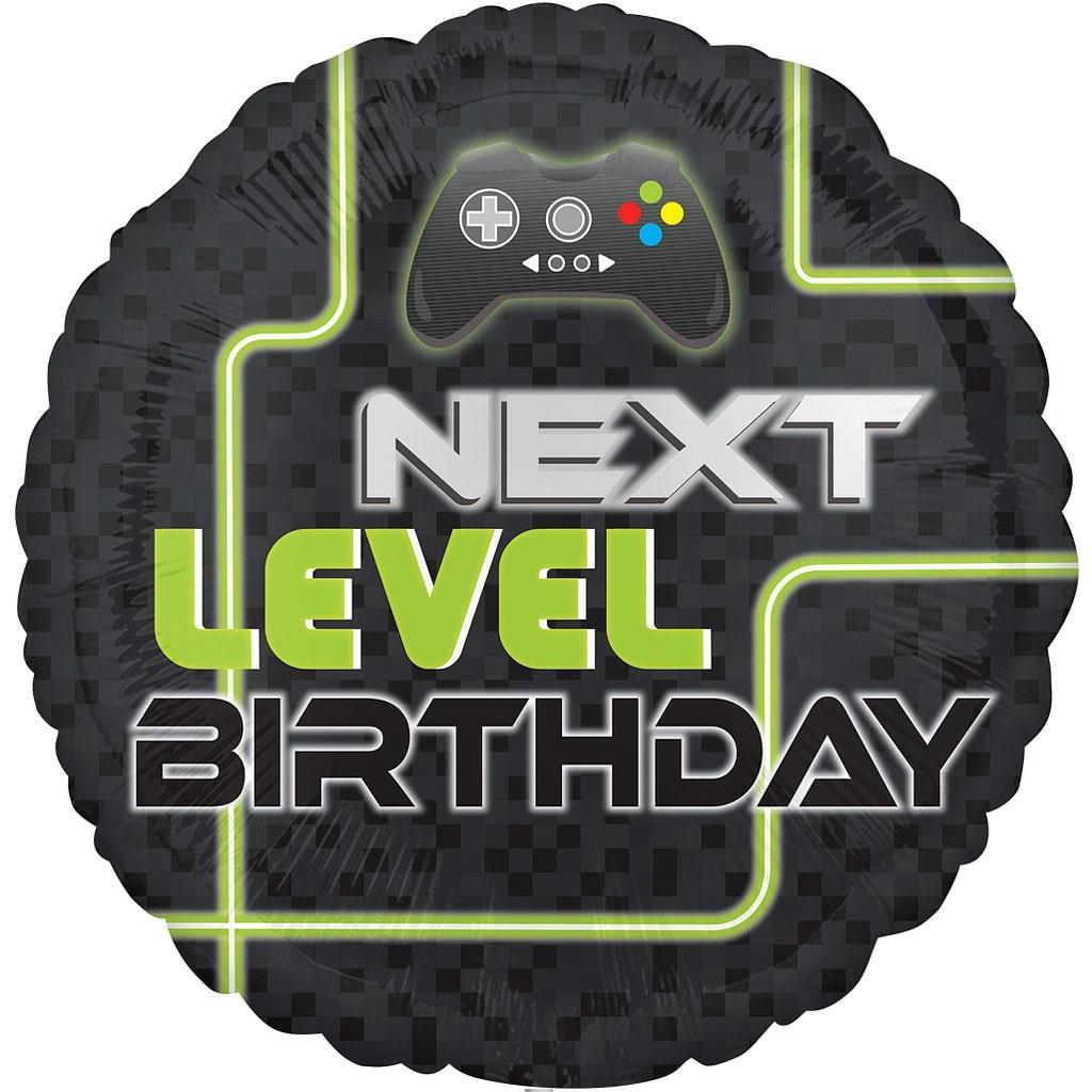 Balão Next Level Birthday Foil, 43 cm