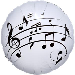 Balão Notas Musicais Foil, 43 cm