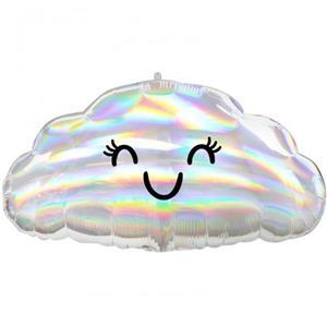 Balão Nuvem Iridescente Foil, 58 cm