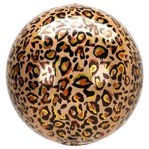 Balão Orbz Animal Leopardo, 38 cm
