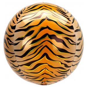 Balão Orbz Animal Tigre, 38 cm