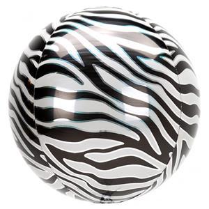 Balão Orbz Animal Zebra, 38 cm