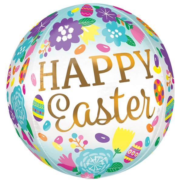 Balão Orbz Happy Easter Florido