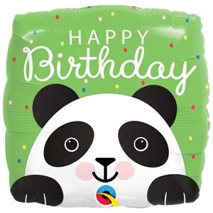 Balão Panda Aniversário Foil, 46 cm