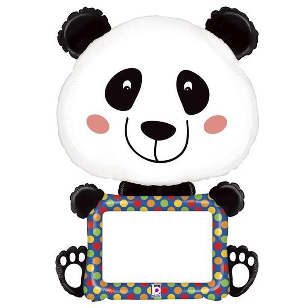 Balão Panda com Marcador Super Shape Foil, 122 cm