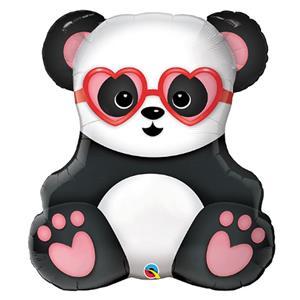 Balão Panda com Óculos Coração