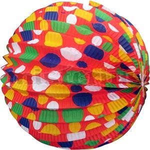 Balão Papel Bolinhas 25cm