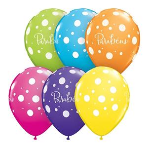 Balão Parabéns Colorido , unid