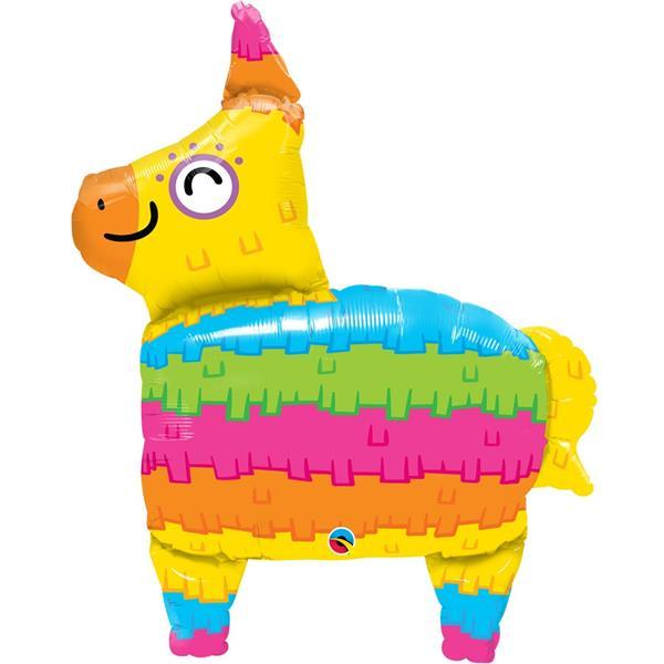 Balão Pinhata Lama Multicolor SuperShape Foil, 86 cm