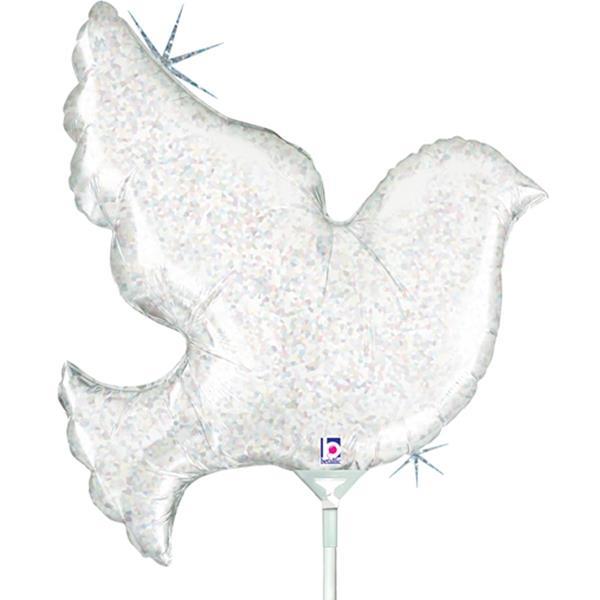 Balão Pomba Iridescente Mini Shape Foil, 35 cm