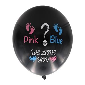 Balão Preto Baby Shower, 45 cm