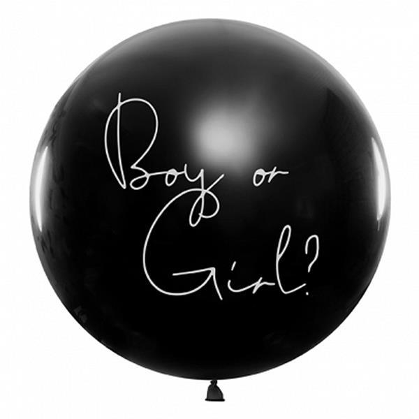 Balão Revelação Preto Boy, 1 mt