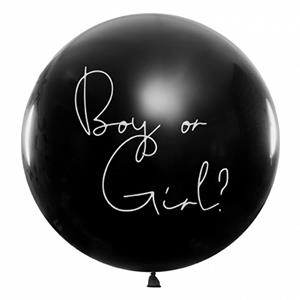 Balão Preto Boy or Girl, 1 mt