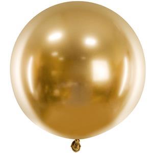 Balão Redondo Cromado Dourado, 60 cm