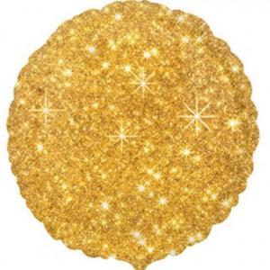 Balão Redondo Dourado Sparkle Foil, 40 cm