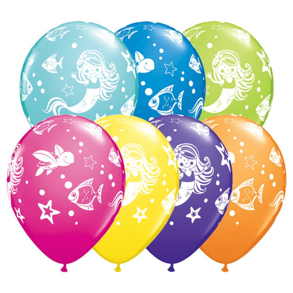 Balão Sereia do Mar em Látex