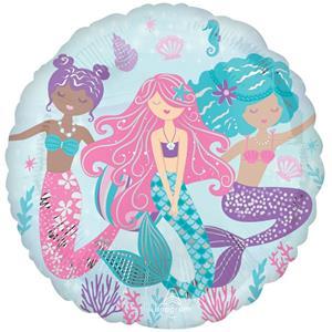 Balão Sereias do Oceano Foil, 43 cm