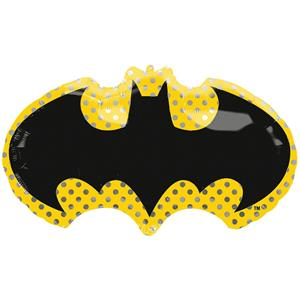 Balão Símbolo Batman SuperShape Foil, 76 cm