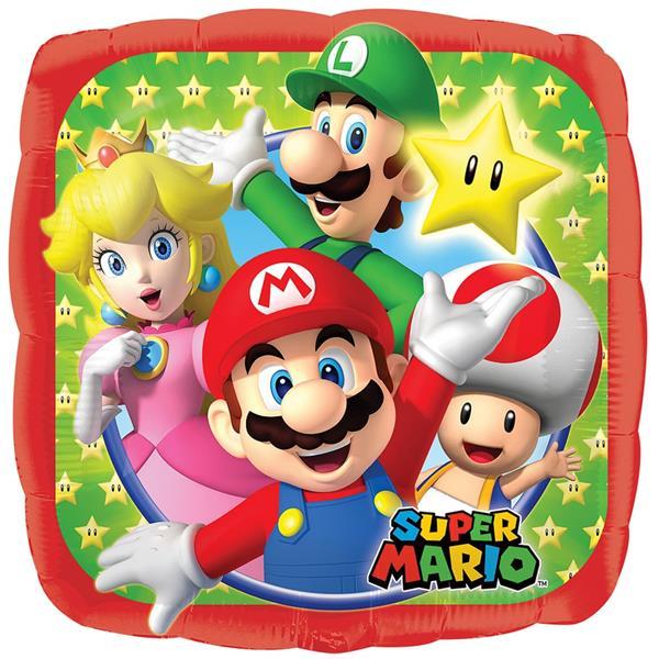 Balão Super Mario Foil, 43 cm
