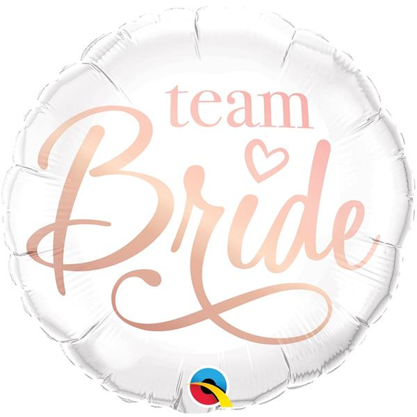 Balão Team Bride Branco Foil, 46 cm