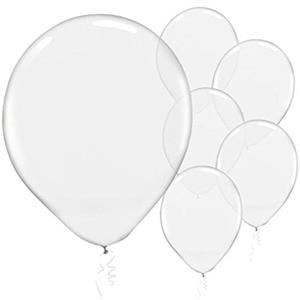 Balões Transparente Látex 30 cm, 50 Unid