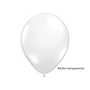 Balão Transparente 30 cm, 50 Unid.