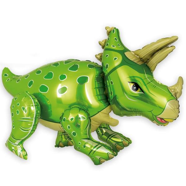 Balão Triceratops Verde Foil, 90 cm