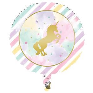 Balão Unicórnio Sparkle Foil, 45 cm