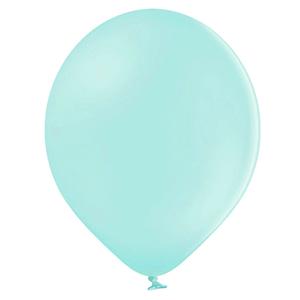 Balão Verde Menta Latex, 30 cm, 50 unid.