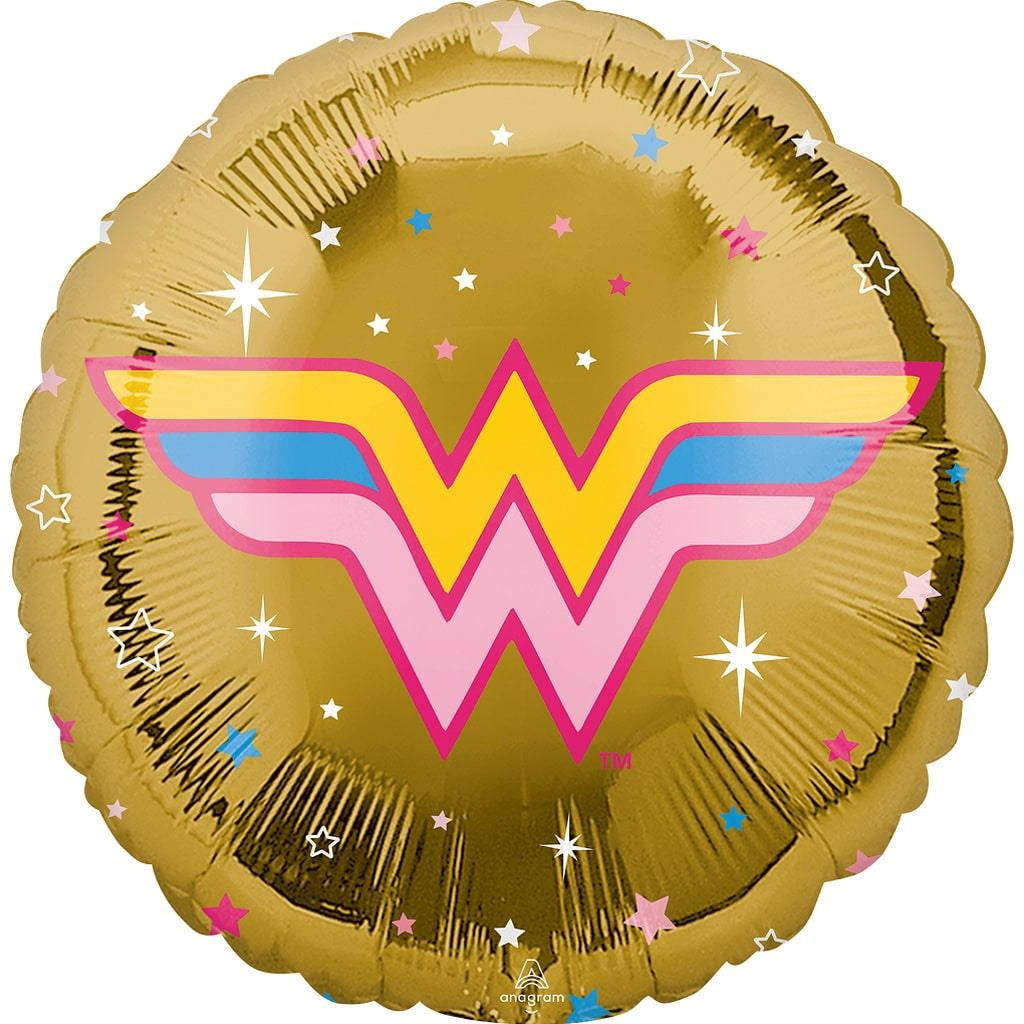 Balão Wonder Woman Dourado Foil, 43 cm