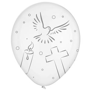 Balões 1ª Comunhão Latex, 8 Unid.