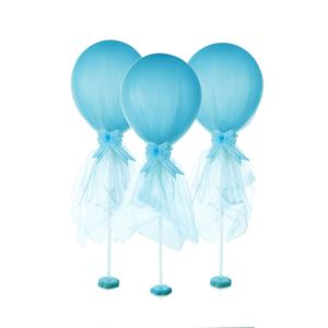 Balões Azuis em Látex com Tule, 2 unid.