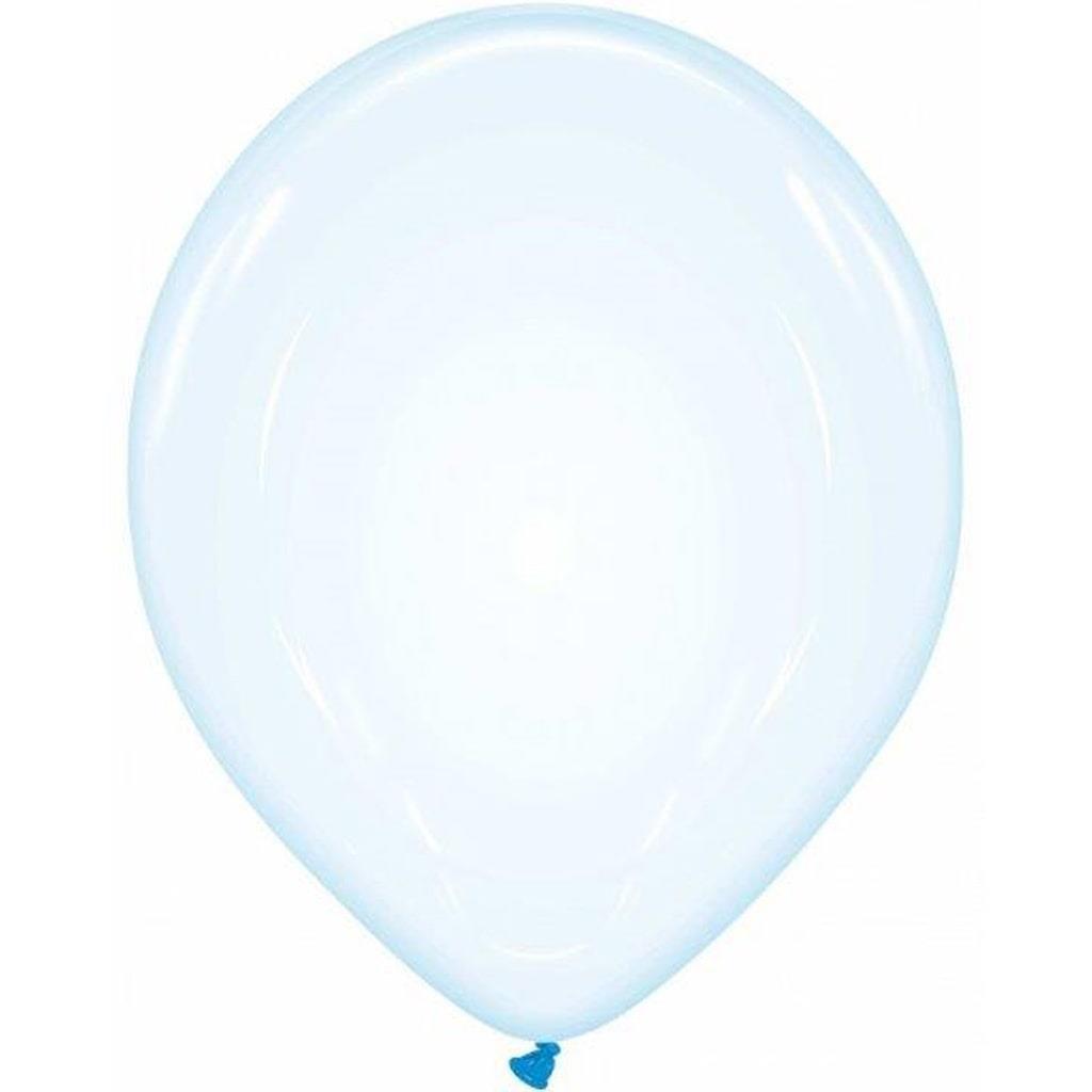 Balões Azul Crystal Latex, 32 cm, 6 unid.