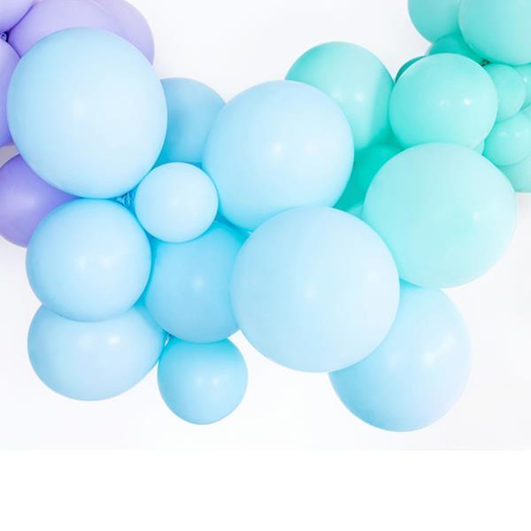 Balões Azul Pastel Látex, 30 cm, 10 unid.