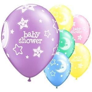 Balões Baby Shower Multicolor Látex, 6 unid.