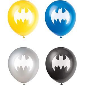 Balões Batman Latex, 8 unid.