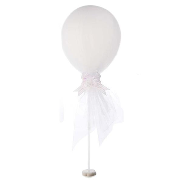Balão Branco em Latex com Tule