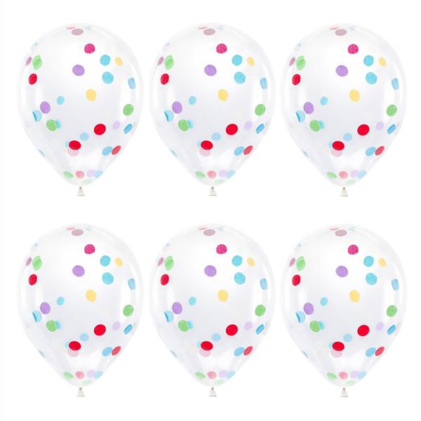 Balões Com Confetis, 6unid