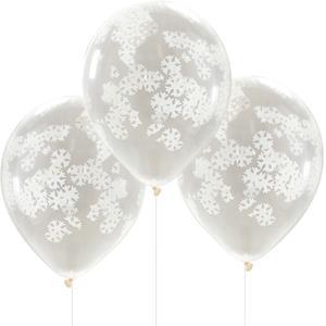 Balões com Confetis Flocos de Neve, 5 unid.