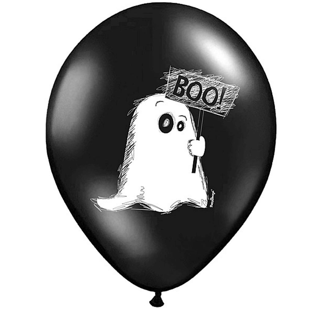 Balões com Fantasma, 6 Unid.